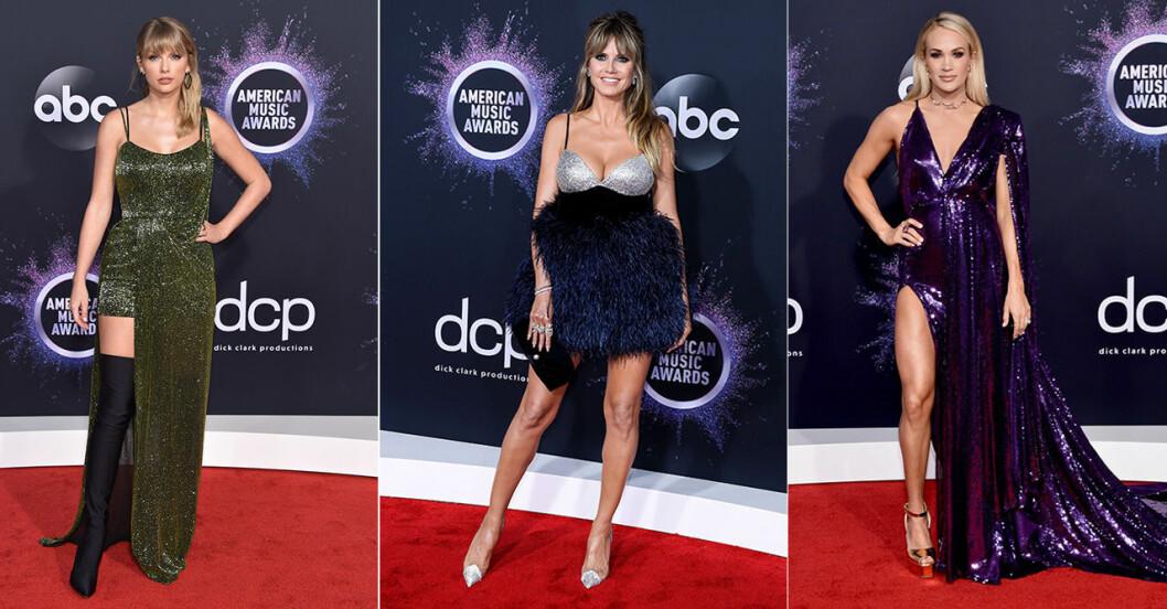 taylor Swift, Heidi Klum och Carrie Underwood på AMA 2019