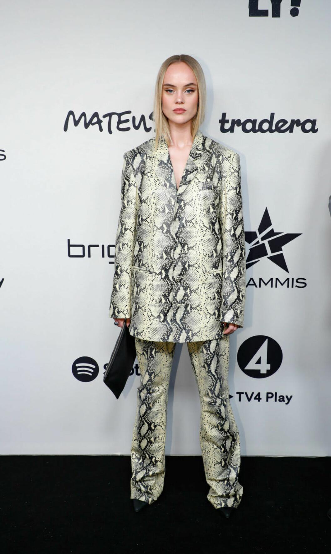 Amanda Winberg på Grammis 2019