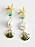 Hängande, guldfärgade örhängen med sjöstjärna, turkossten, stor pärla och snäcka. Örhängen från And other stories.