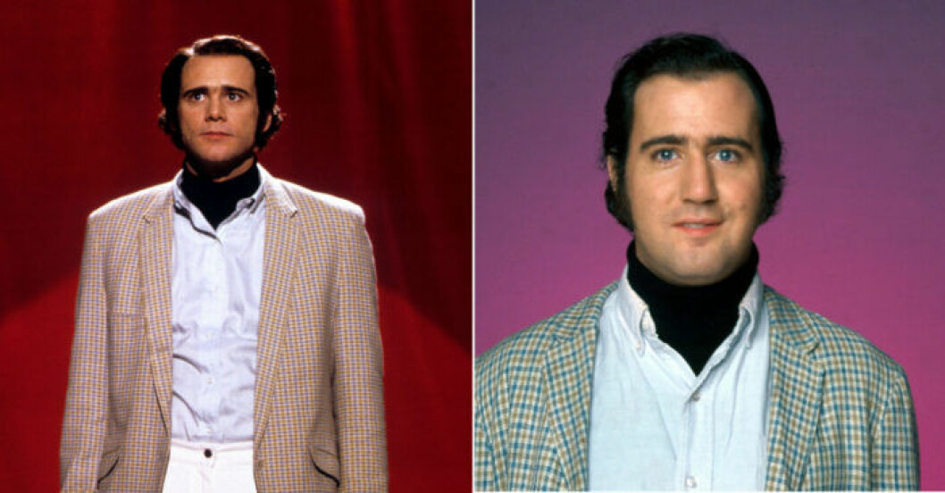 Jim Carrey som Andy Kaufman.