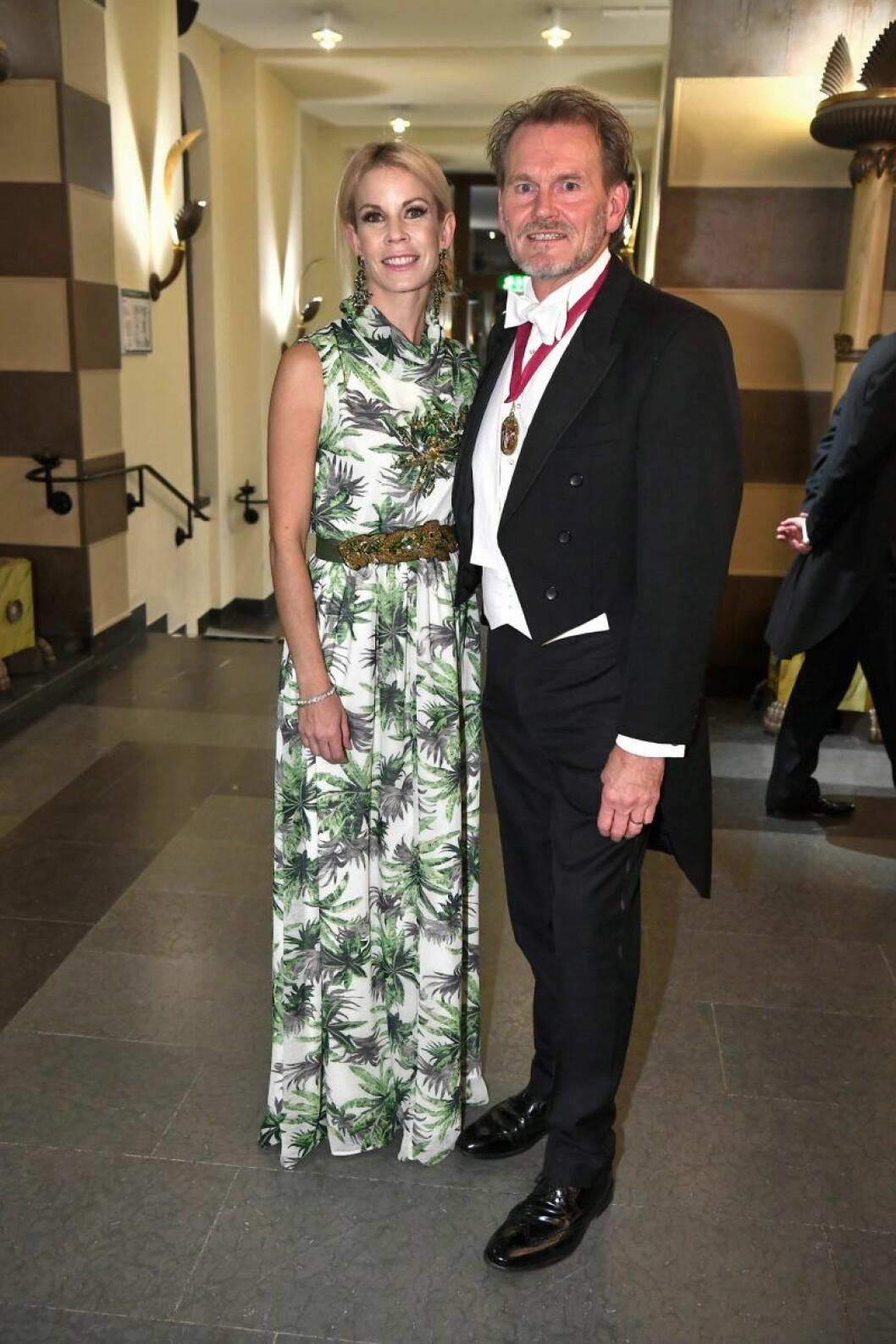 Anna König Jerlmyr med make Philip Jerlmyr på Nobel 2019