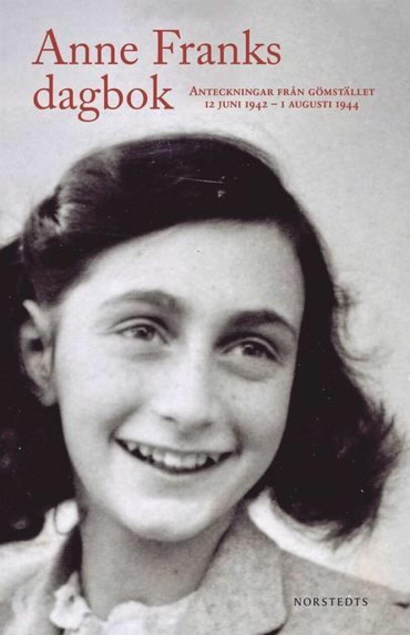 Bildomslag till Anne Franks Dagbok- Bild på Anne Franks.