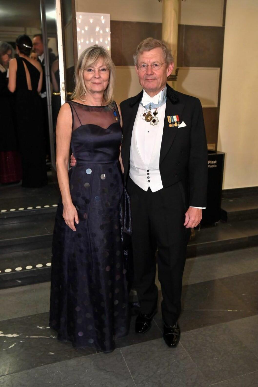 Annika Levin och Jacob Wallenberg på Nobel