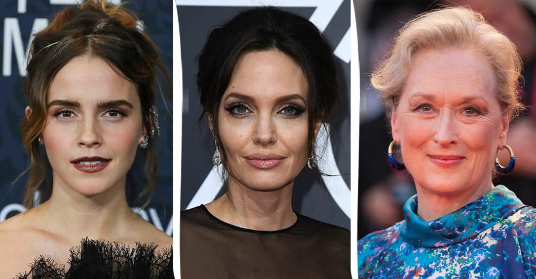 Emma Watson, Angelina Jolie, Meryl Streep.