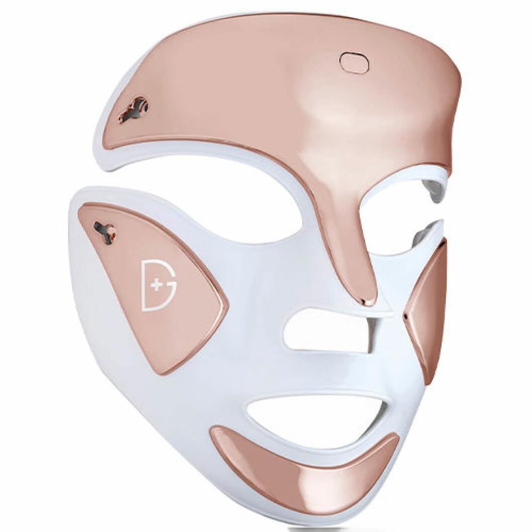 Lyxig bärbar ansiktsmask med led-lampor
