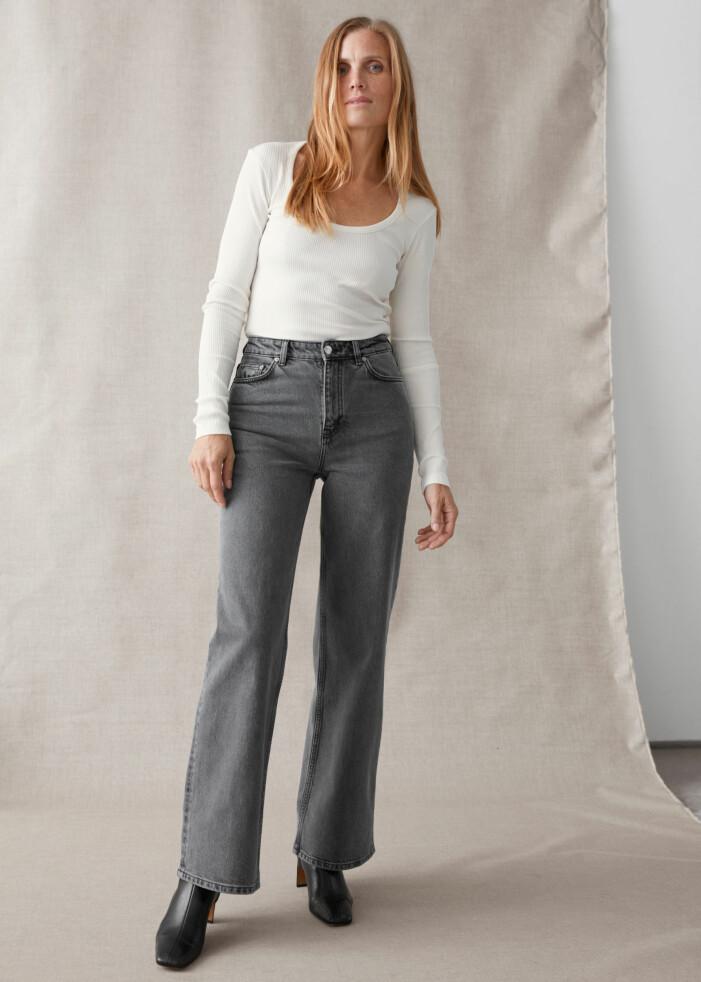 Gråa jeans