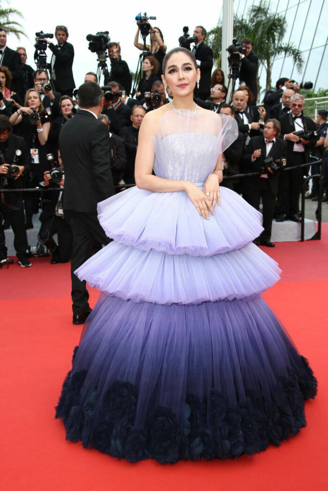 Araya A. Hargate på filmfestivalen i Cannes 2019