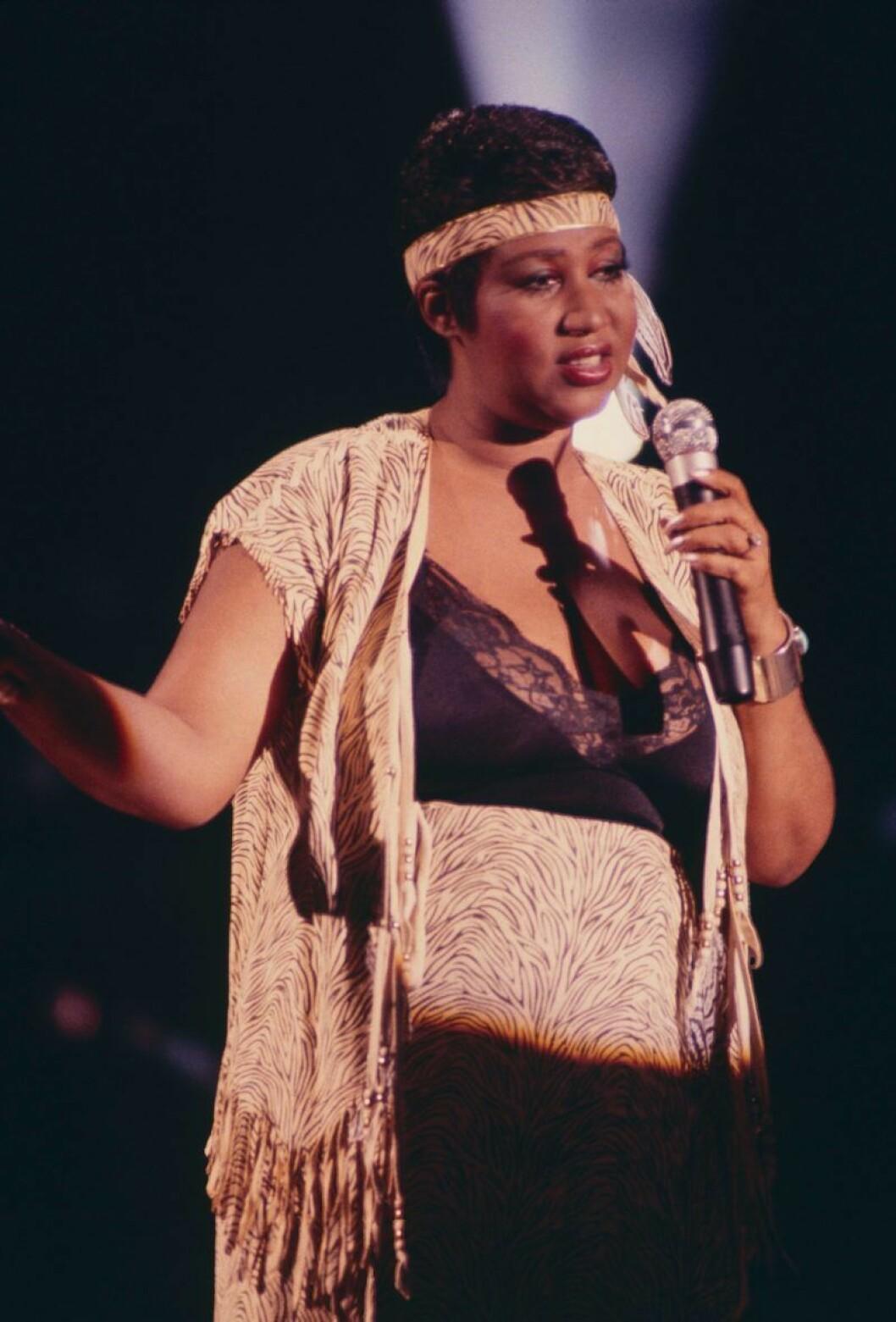 Aretha Franklin 1982.