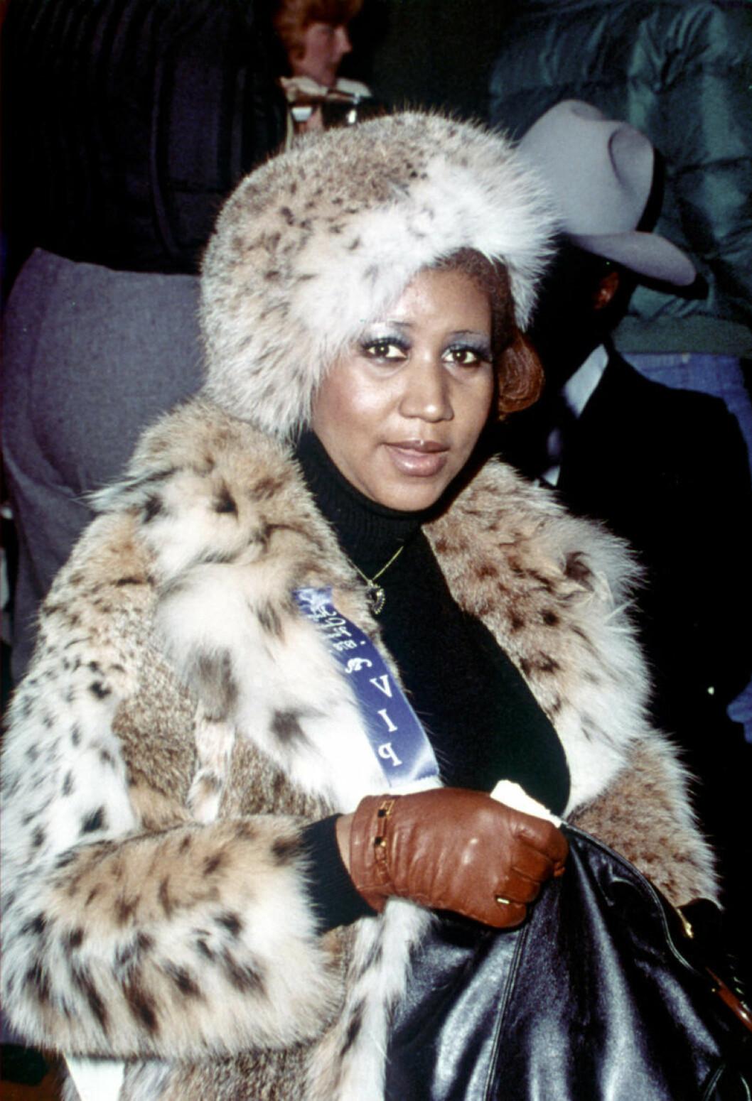 Aretha Franklin i leopard 1980.