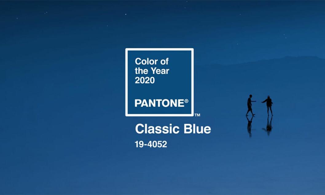 Pantones årets färg 2020 är en klassisk blå färg