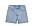 Ljusblå jeansshorts i rak, kort modell från Arket.