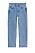 Blå, croppade jeans i rak modell. Jeans från Arket.