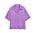 Kortärmad, lila satinskjorta från Arket.
