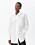 Modell med vit oversizad skjorta från Arket.