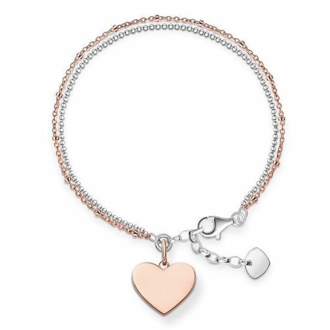 Armband med hjärta gravyr