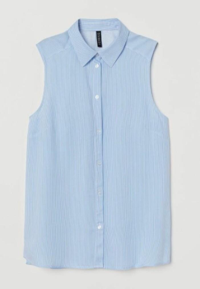 Ärmlös blus från H&M