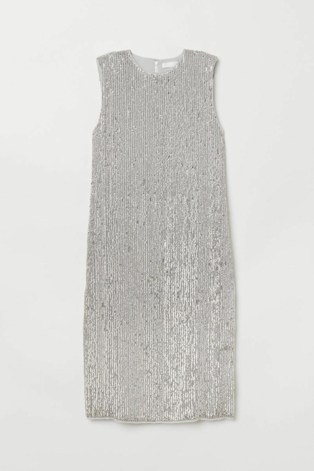 Ärmlös paljettklänning från H&M
