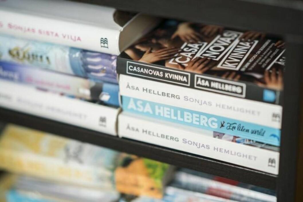 Fyra av Åsa Hellbergs böcker
