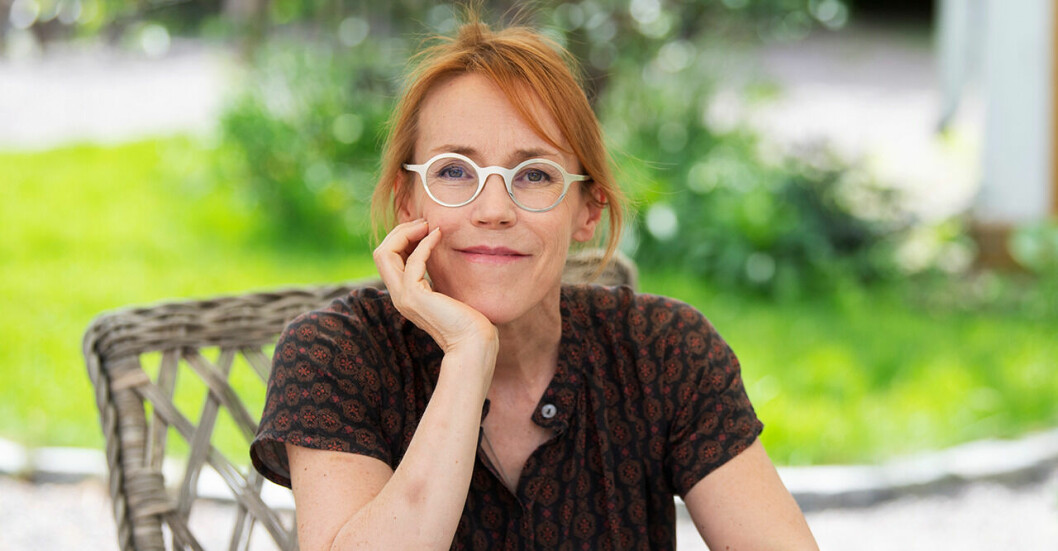 Deckarförfattaren Åsa Larsson.