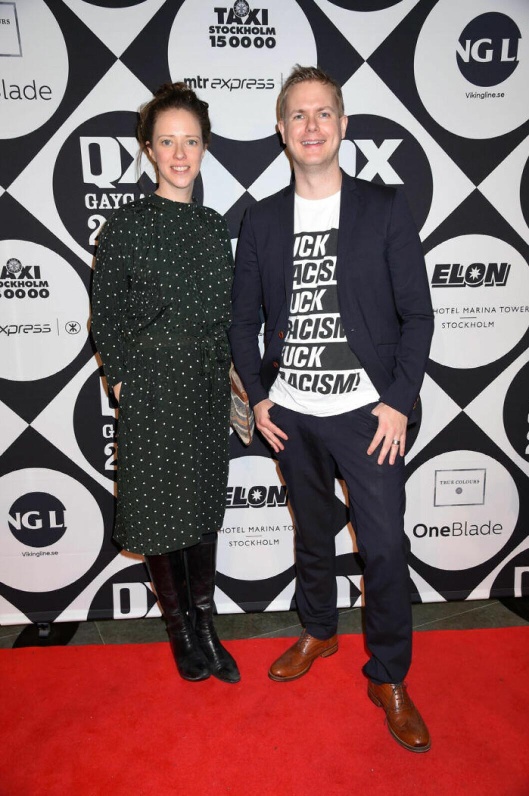 Åsa Lindhagen och Gustav Fridolin på QX-galan 2019