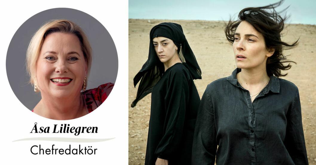 """Feminas chefredaktör Åsa Liliegren väljer årets kultur, tv-serien """"Kalifat""""."""