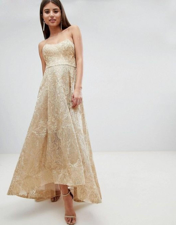 En bild på en klänning från Bariano i metallic.