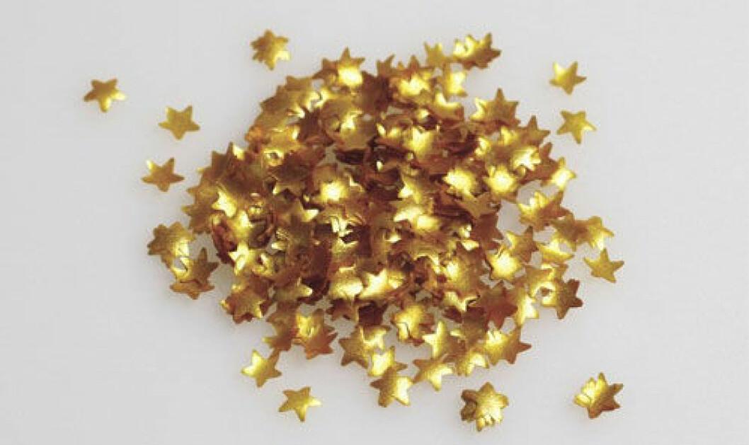 Ätbara guldstjärnor.