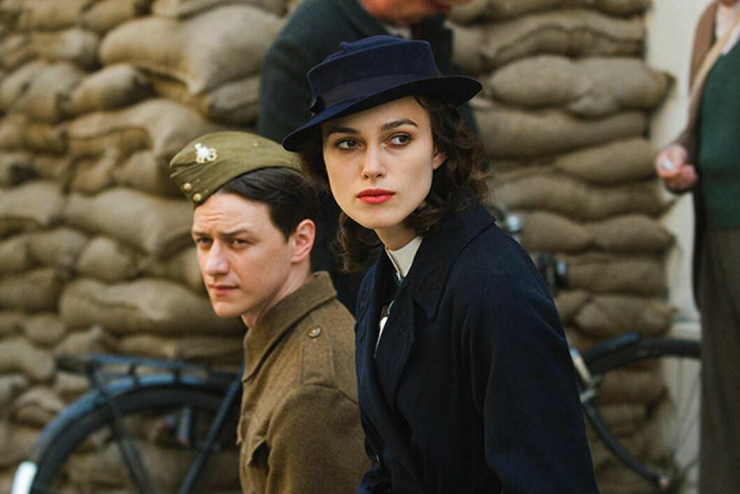 En bild på skådespelerskan Keira Knightley, som är med i filmen Atonement.