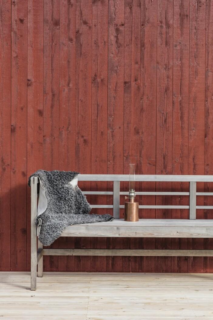 Attefallshus Sommarnöje GAD Gotland bänk lykta Klong