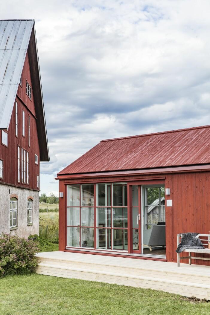 Attefallshus Sommarnöje GAD Gotland trappa glasparti