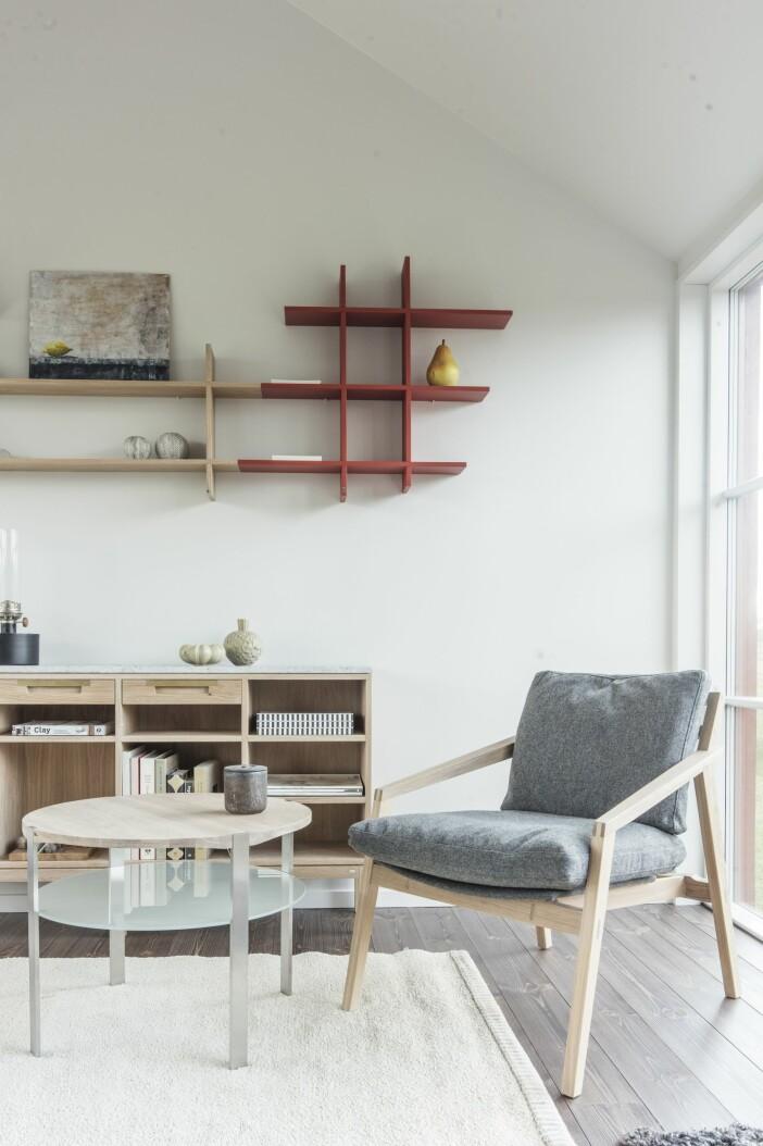 Attefallshus Sommarnöje GAD Gotland vardagsrummet