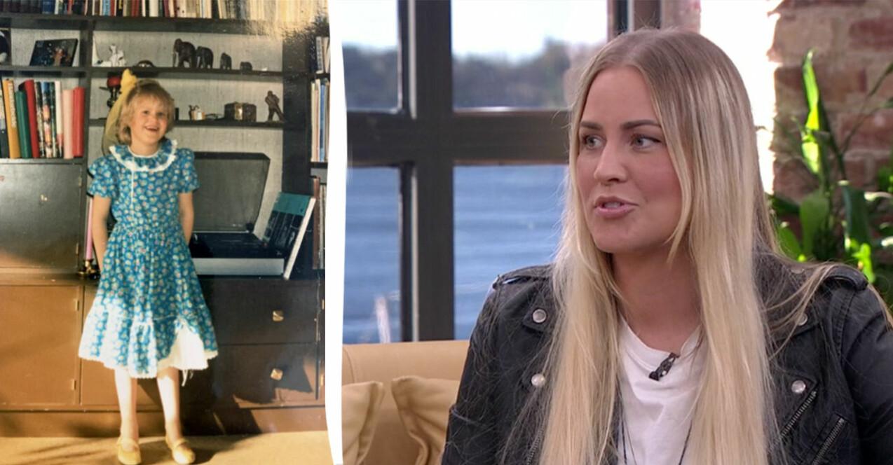 Charlotte som barn och i en intervju i God morgen Norge om ADD och autism.