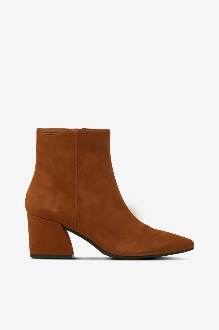 Bruna boots med klack