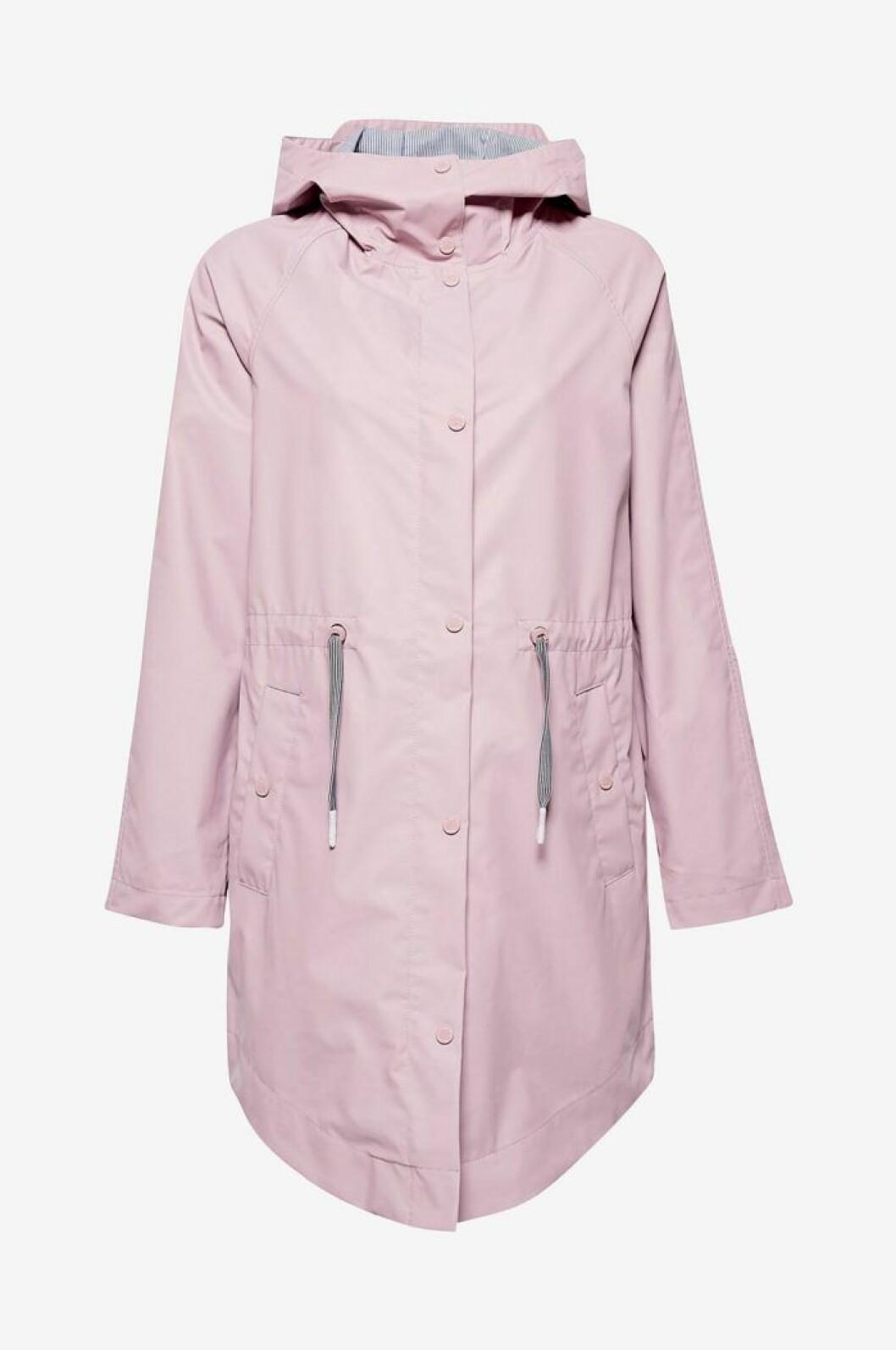 Pastellrosa regnjacka från Esprit