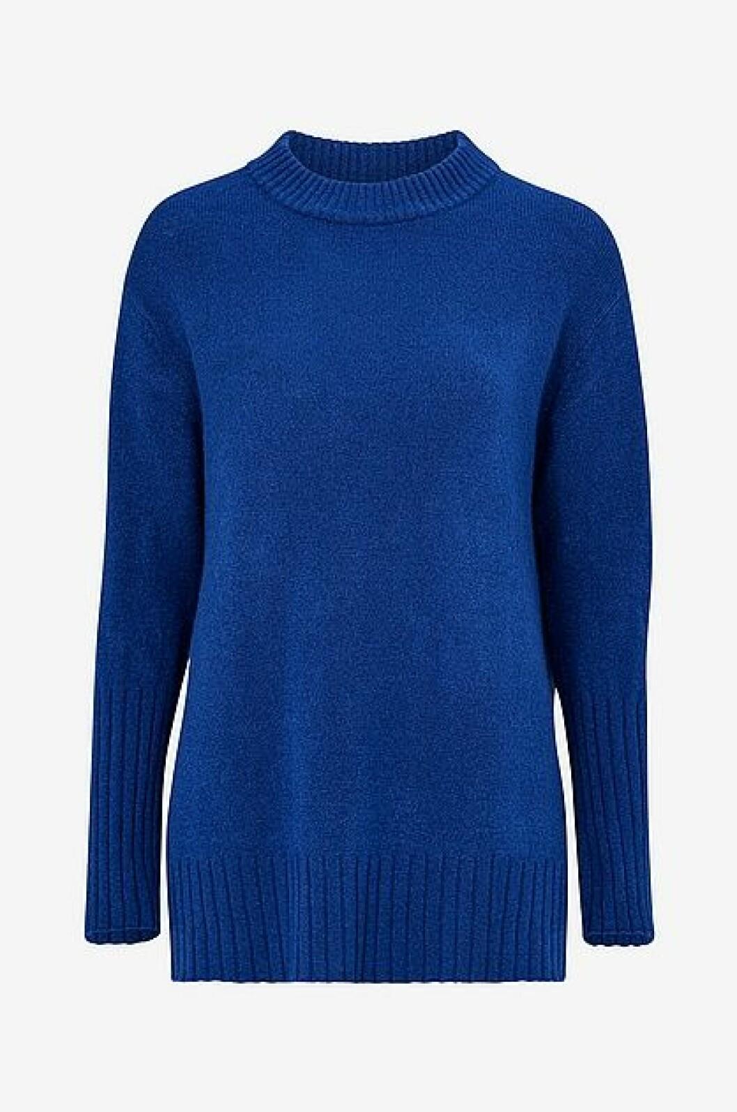 Blå stickad tröja från Ellos