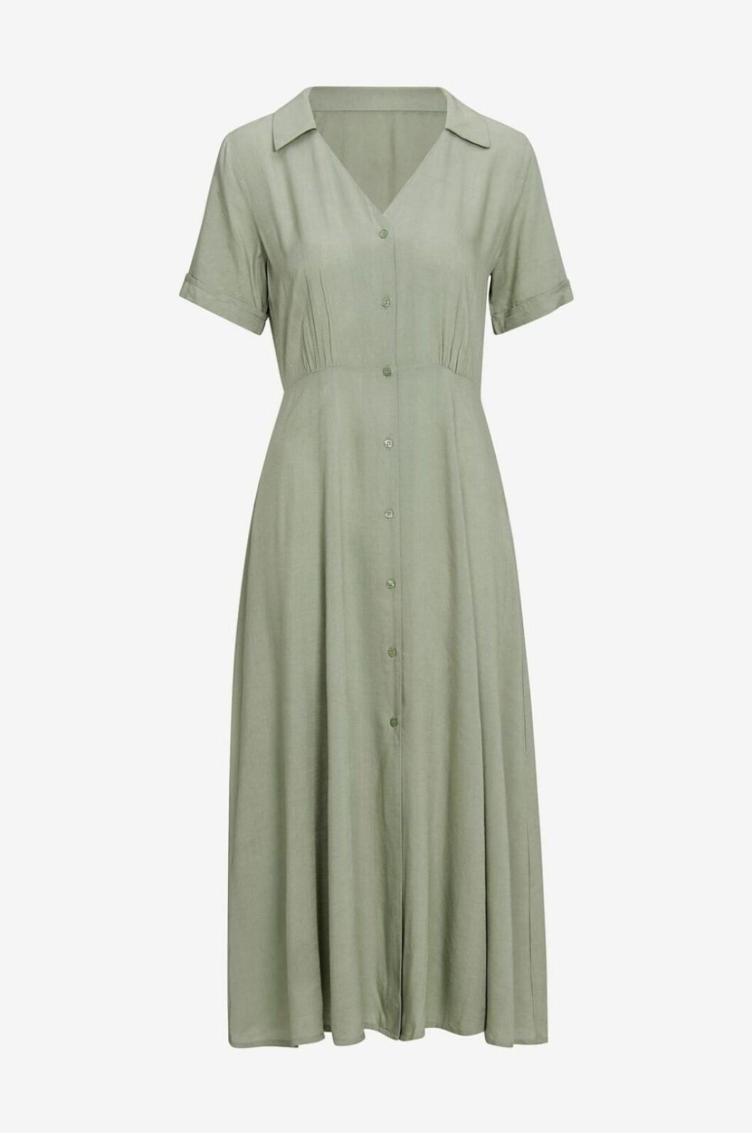 Grön skjortklänning