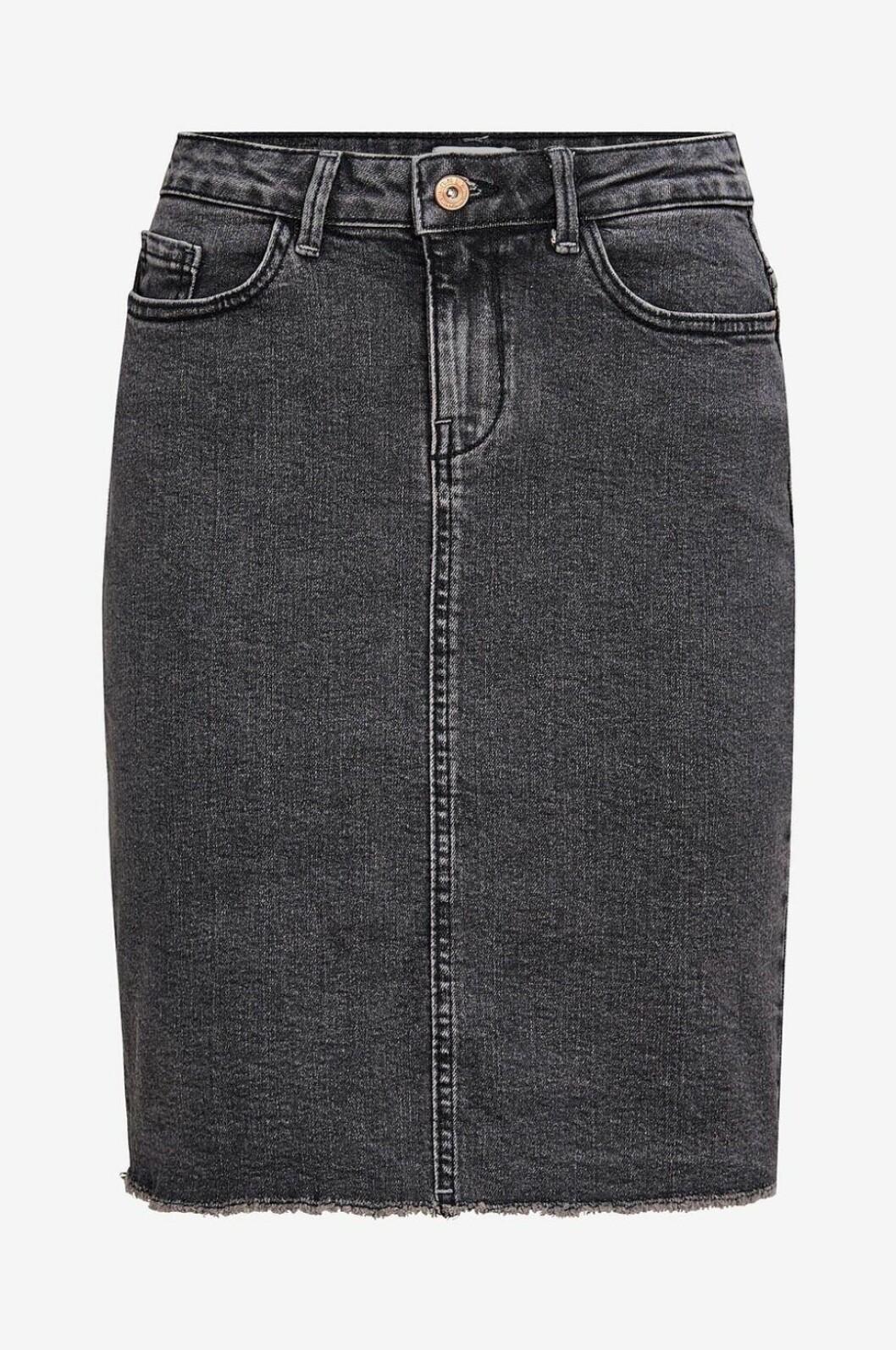 svart jeanskjol ellos