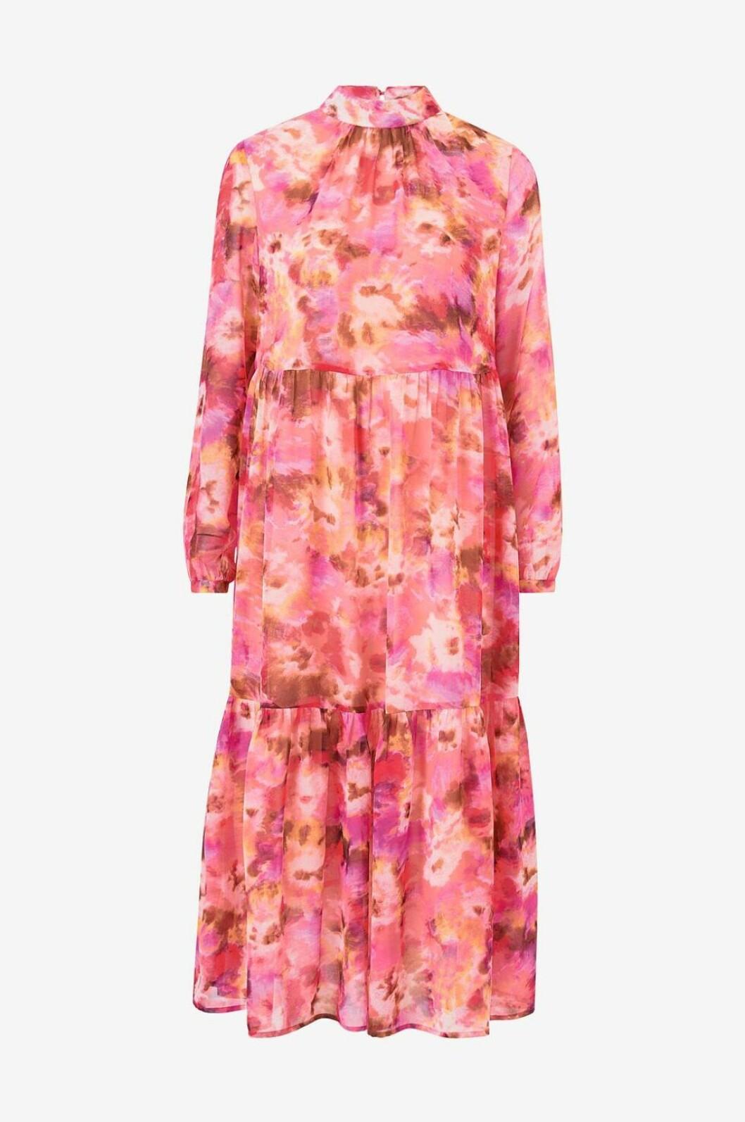 ellos rosamönstrad klänning