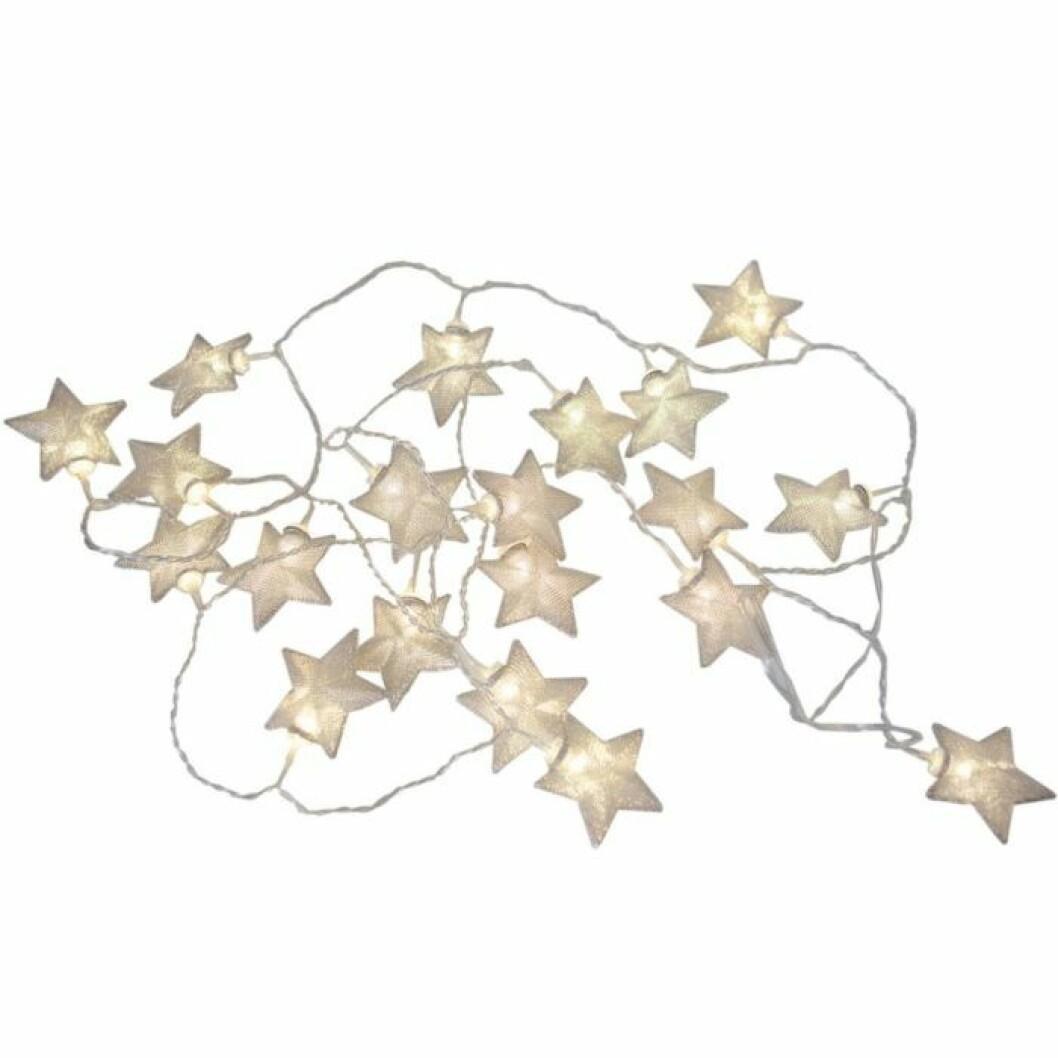 Ljusslinga med stjärnor