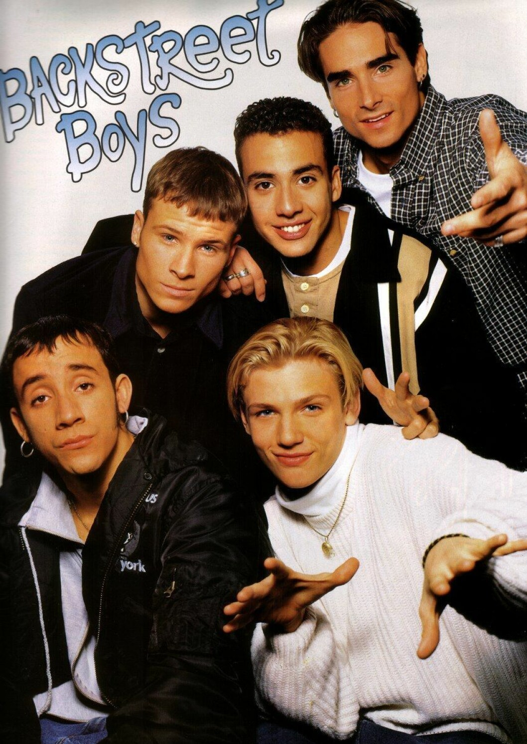 Bild med poster på Backstreet boys