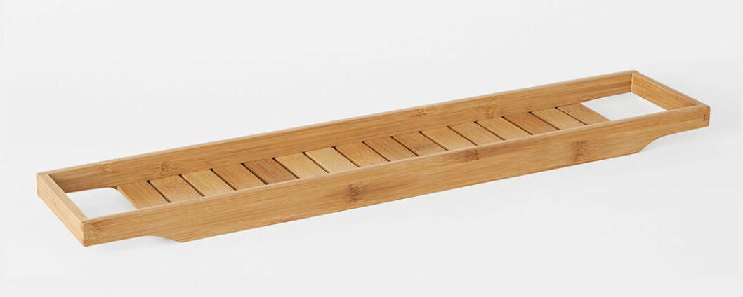 badkarshylla i bambu från åhléns