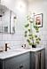 Snyggt badrum med vintagekänsla