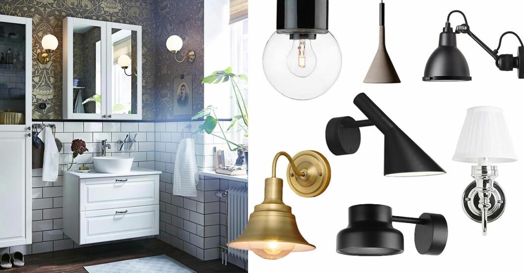 Tips på snygga och säkra badrumslampor