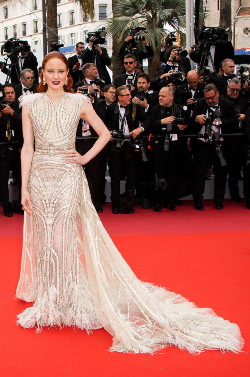Barbara Meier på filmfestivalen i Cannes 2019