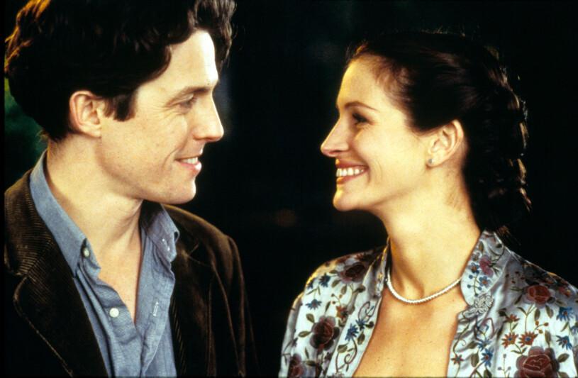 Julia Roberts och Hugh Grant i filmen Notting Hill