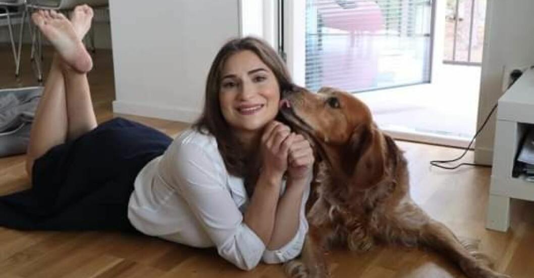 Beatrice med hund