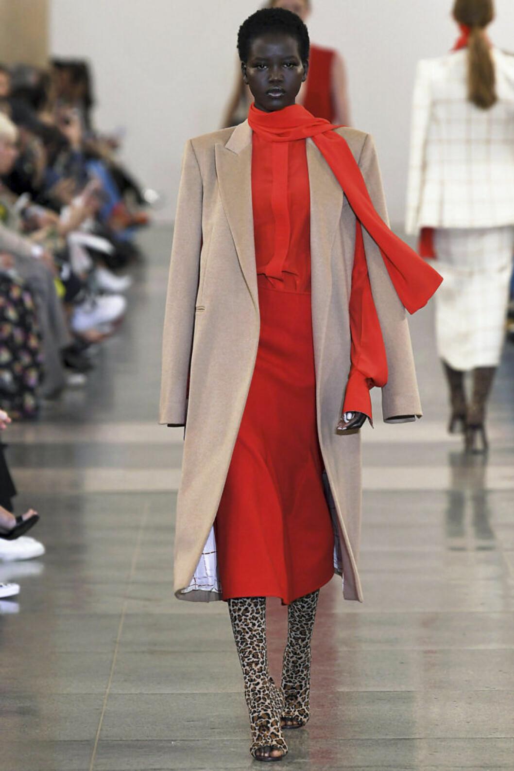 Modell på catwalk