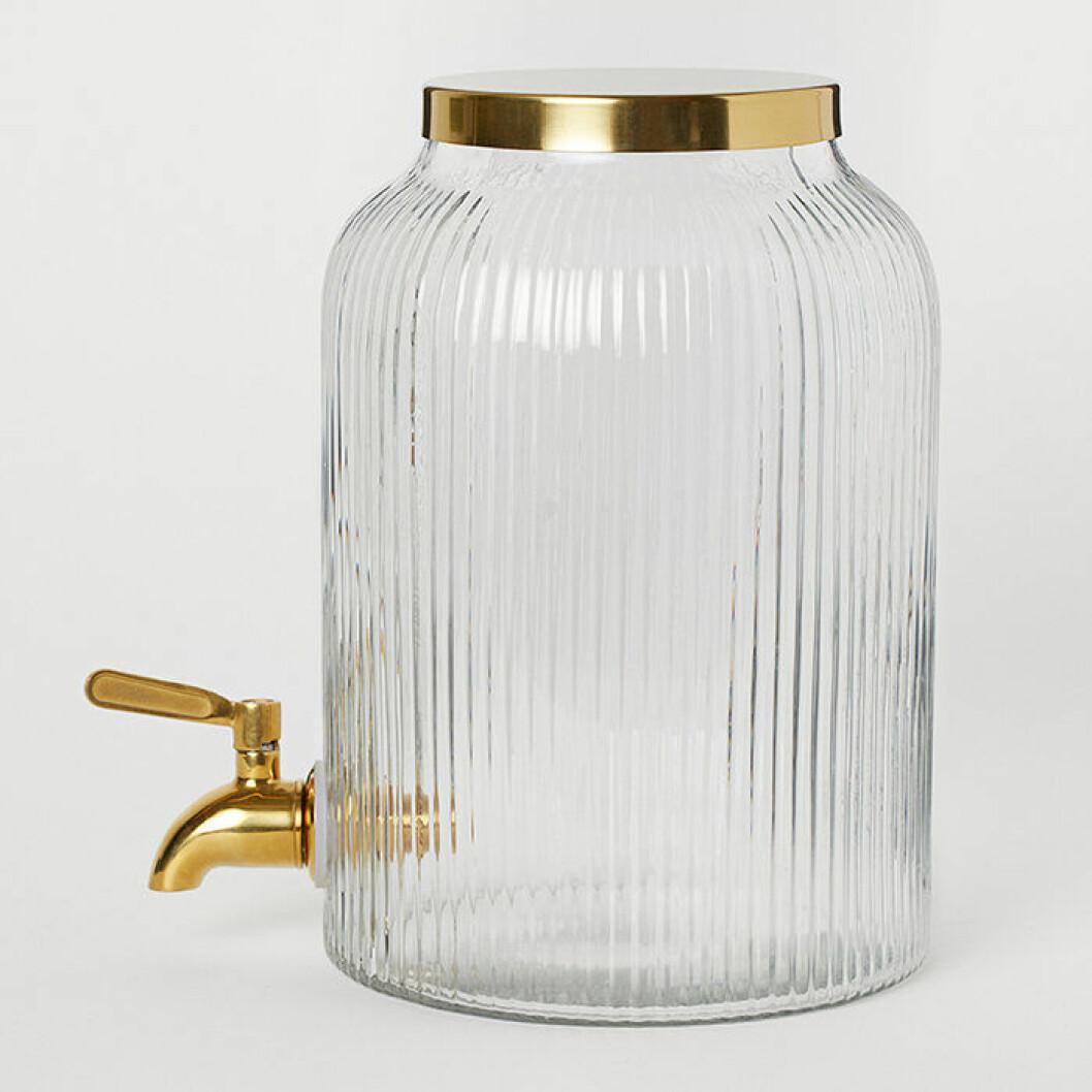 Behållare med tappkran i guld från H&M Home