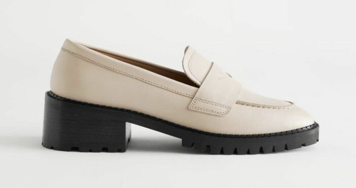 beige loafer & other stories