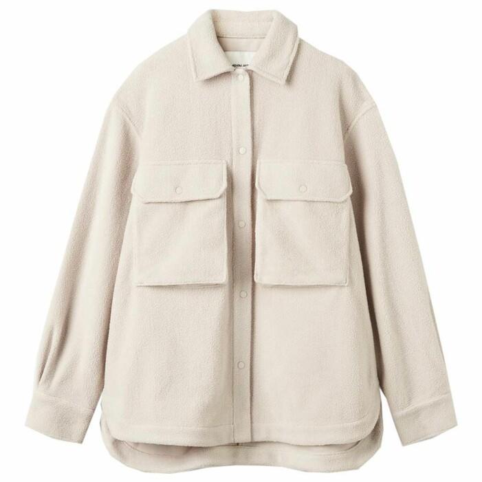 beige skjortjacka i fleece